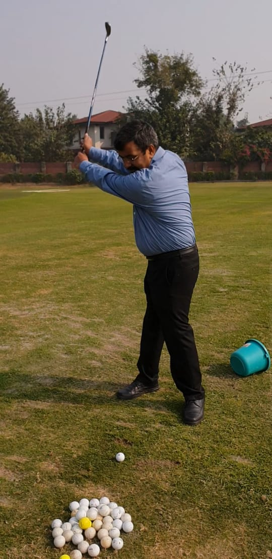 Animesh playing golf